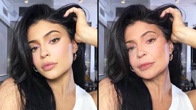 FaceApp age challenge: Kylie Jenner old filter