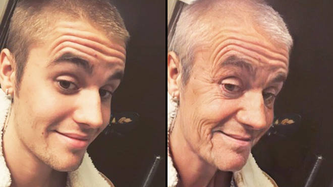 FaceApp age challenge: Justin Bieber old filter
