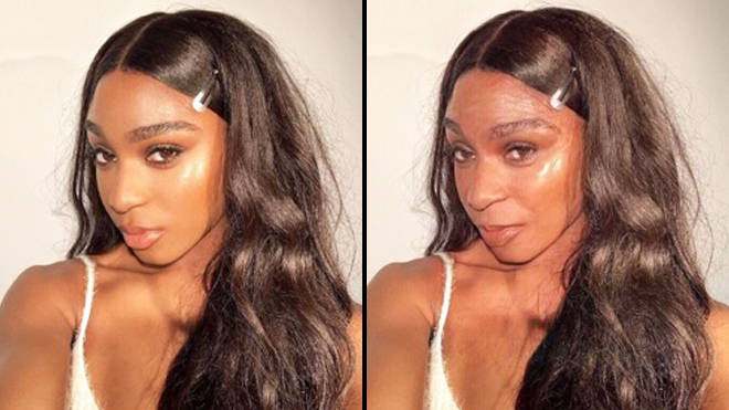 FaceApp age challenge: Normani old filter
