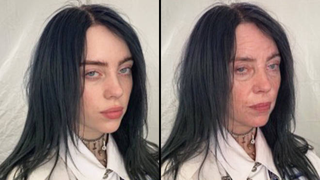 FaceApp age challenge: Billie Eilish old filter