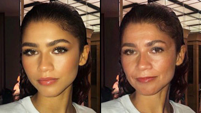 FaceApp age challenge: Zendaya old filter