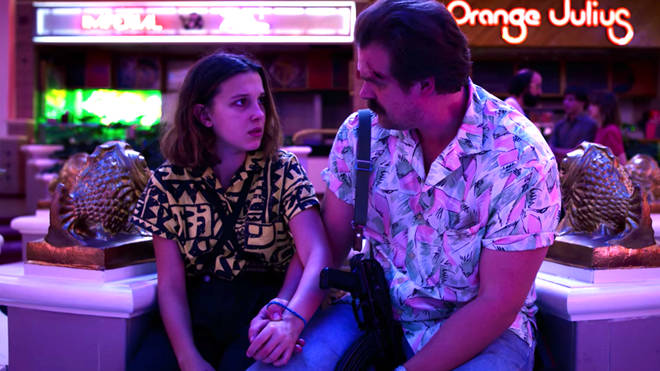 Eleven and Hopper say goodbye in Stranger Things 3