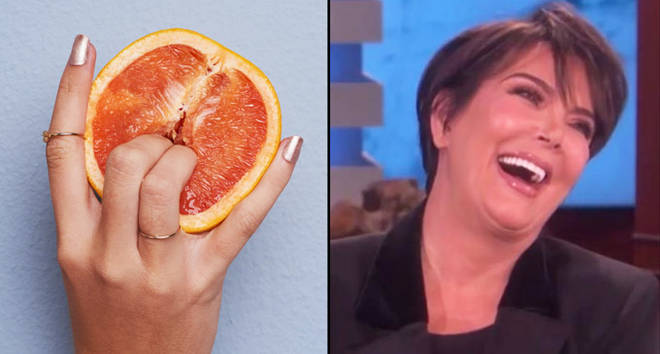 Sticky fingers - stock photo/Kris Jenner laughing on Ellen.