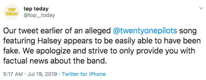 Twitter reaction to Halsey Twenty One rumours