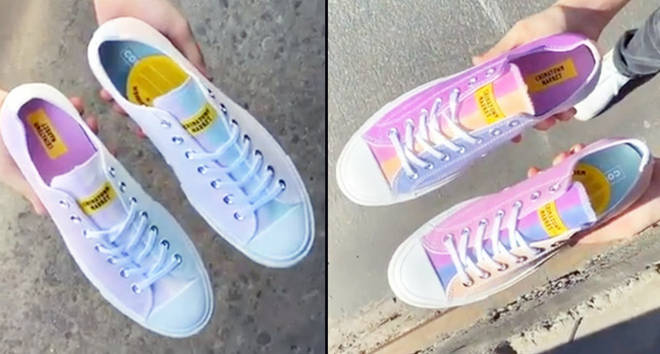 Image result for White Converse Sneakers Magically Change Color When Exposed to Sunlight