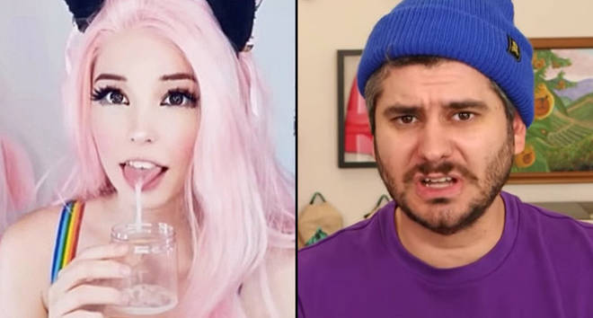 Belle Delphine and Ethan Klein.