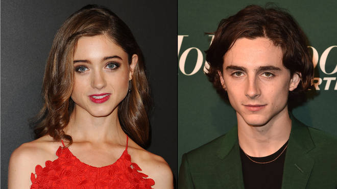 Natalia Dyer and Timothée Chalamet lookalike