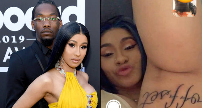 Cardi B Reveals HUGE New Tattoo Of Husband Offset's Name