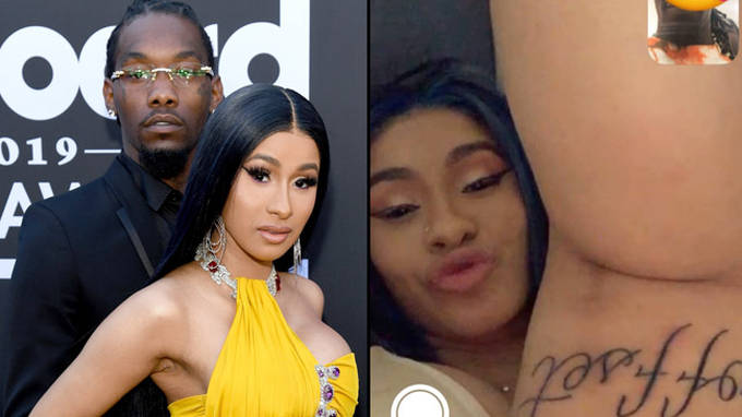 Cardi B Reveals Huge New Tattoo Of Husband Offset S Name On Her