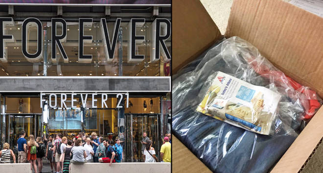 Forever 21 store front/package.
