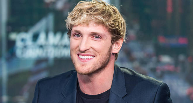 "YouTuber Logan Paul appears on ""The Claman Countdown"" with Liz Claman at Fox Business"