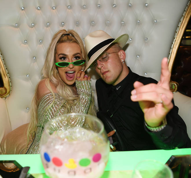 Jake Paul And Tana Mongeau Celebrate Wedding Reception At Sweet Beginnings At Sugar Factory In Las Vegas