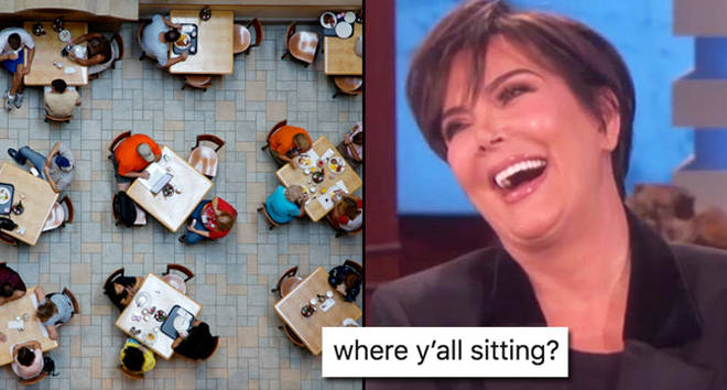 breakfast dining view - stock photo, Kris Jenner laughing.