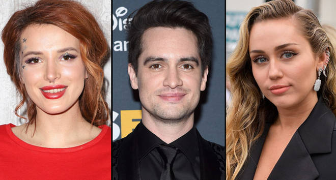 Bella Thorne, Brendon Urie and Miley Cyrus.