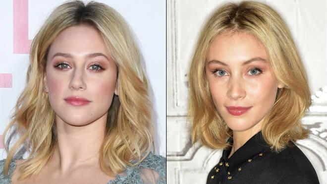 Lili Reinhart and Sarah Gadon look alike