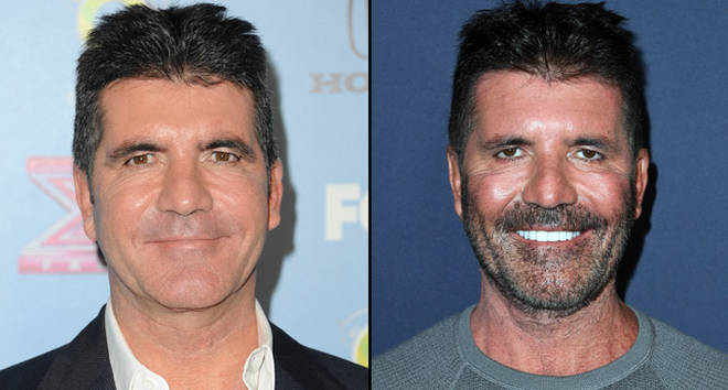 Simon Cowell in 2013 and in 2019.