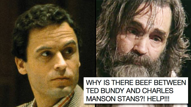 Ted Bundy stans and Charles Manson stans are fighting on Twitter and, honestly, WTF