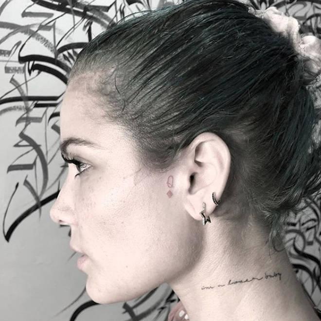"Halsey&squot;s ""Q"" Tattoo."