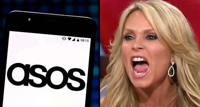 In this photo illustration an Asos.com logo seen displayed on a smartphone.