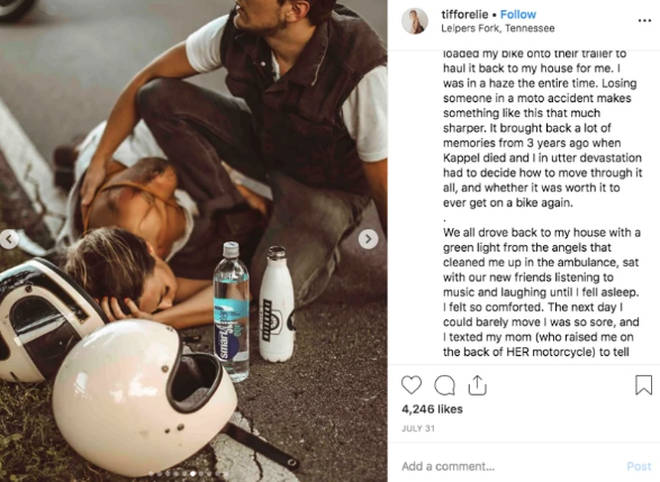 Tiffany Mitchell motorcycle accident