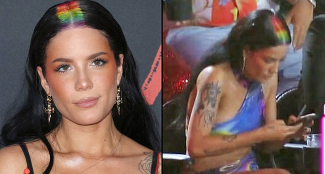 Halsey attends the 2019 MTV Video Music Awards at Prudential Center.