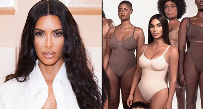 Kim Kardashian West at her first-ever KKW Beauty and Fragrance pop-up opening, Skims Solutionwear ad.