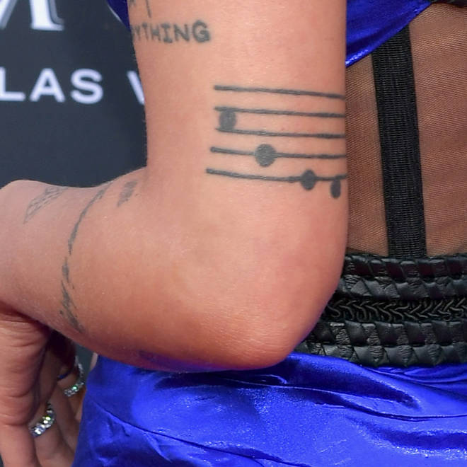 Halsey's Music Score Tattoo.