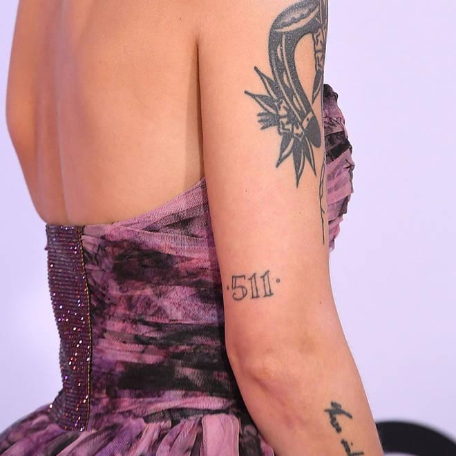 "Halsey&squot;s ""511"" Tattoo."