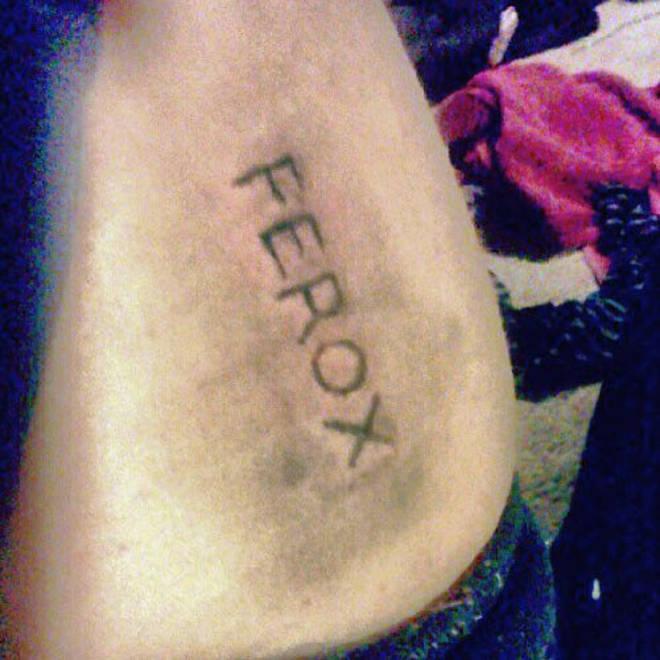 """Halsey&squot;s """"FEROX"""" Tattoo."""