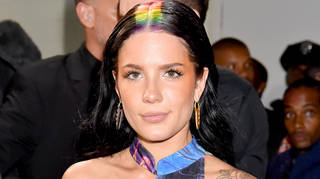 Halsey backstage during the 2019 MTV Video Music Awards.
