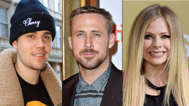 Justin Bieber, Ryan Gosling, Avril Lavigne related
