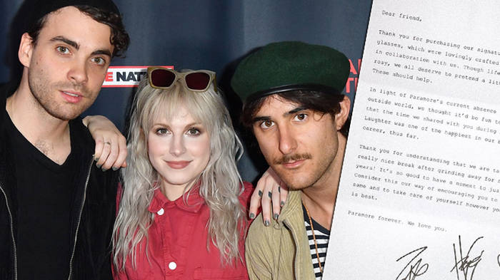 "Paramore explain why they're taking a ""break"" from music in heartfelt letter to fans"