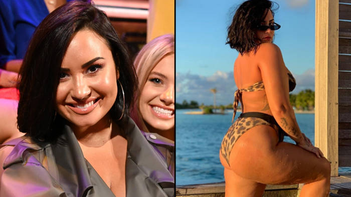"Demi Lovato shares unedited bikini photo on Instagram to show she's ""unashamed"" of her cellulite"