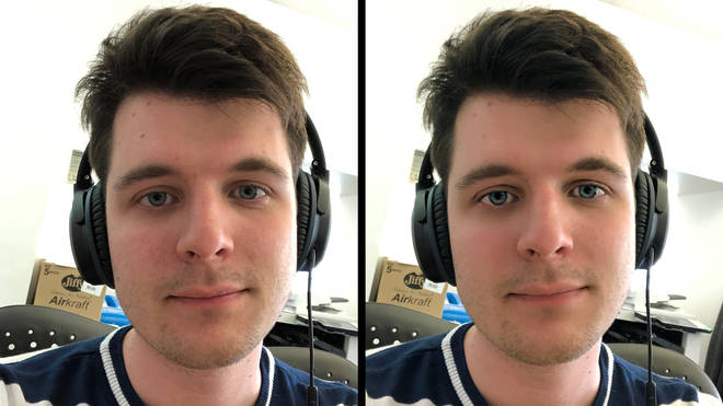 before and after facetune