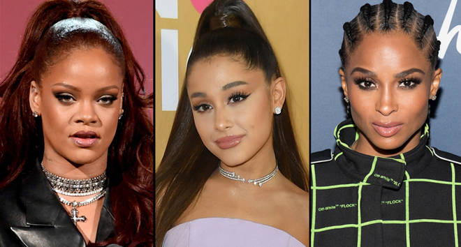 Rihanna, Ariana Grande and Ciara.
