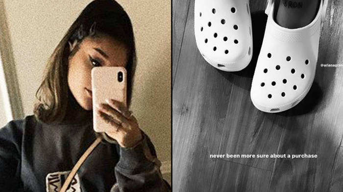 Ariana Grande wore Crocs and channelled her inner VSCO girl