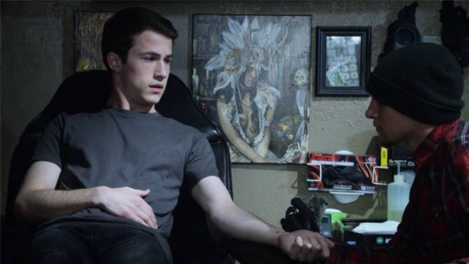 Clay's Semi Colon Tattoo - 13 Reasons Why