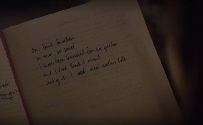Hannah's forbidden fruit poem