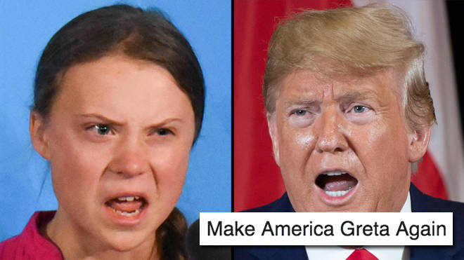 "Greta Thunberg memes go viral after Donald Trump ""death stare"" gif breaks the internet"