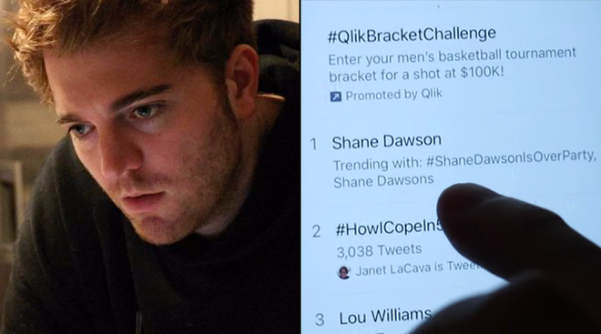 #ShaneDawsonIsOverParty trended following Shane's cat scandal
