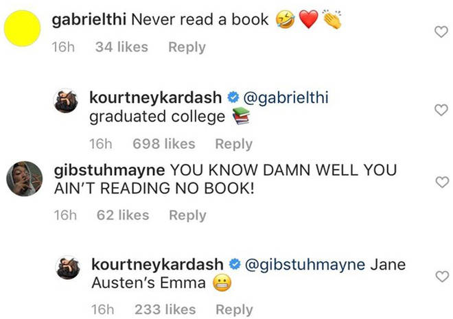 Kourtney Kardashian's Comments.