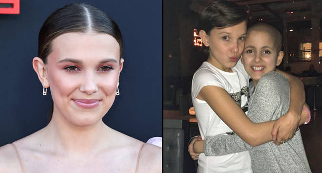 Millie Bobby Brown with Olivia Hope LoRusso.