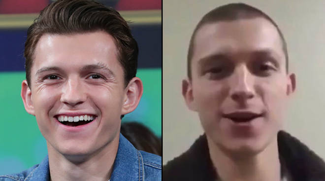Tom Holland has shaved his head ahead of new movie Cherry