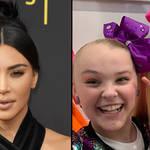 Kim Kardashian, JoJo Siwa with North West.