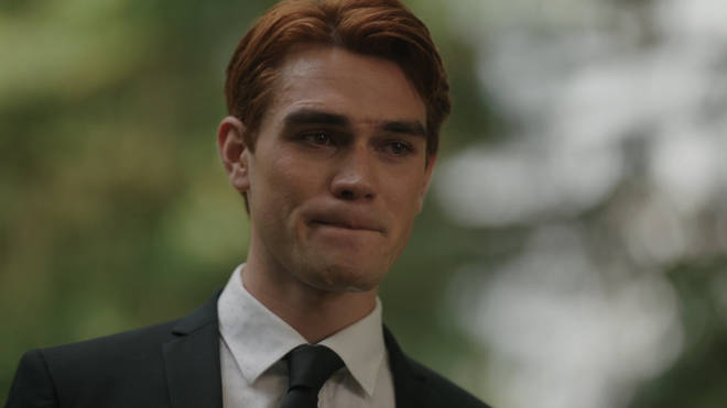 Archie Andrews during Fred's funeral