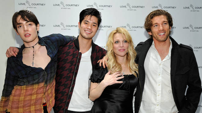 Ross Butler and Courtney Love