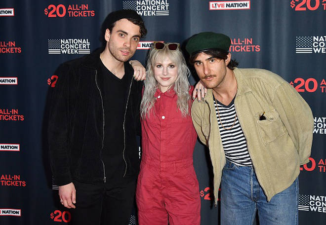 Taylor York, Hayley Williams, and Zac Farro