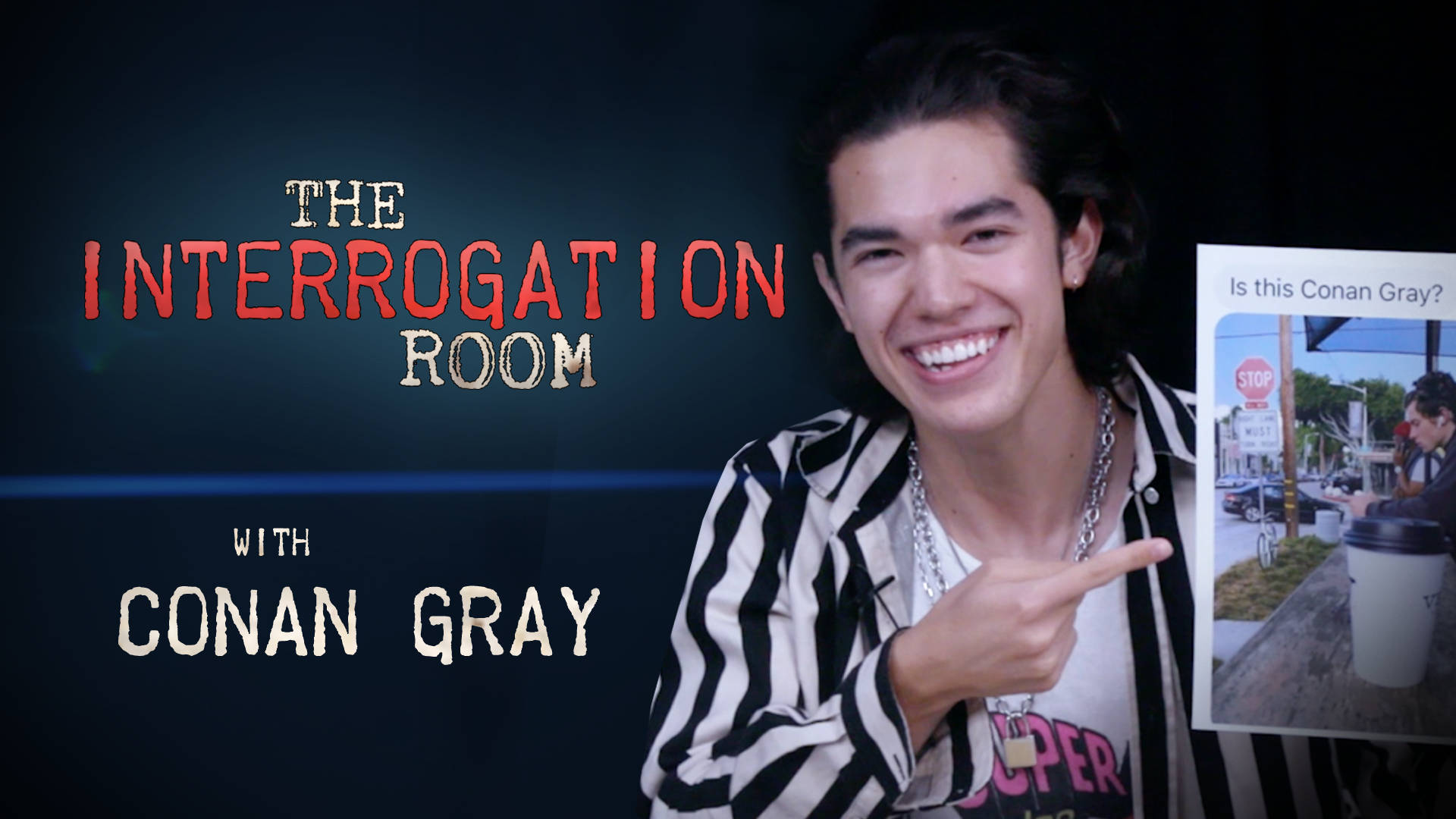 Conan Gray sings his most existential tweets in the Interrogation Room | PopBuzz Meets