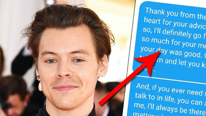 Harry Styles slides into fan's DMs to offer dating advice