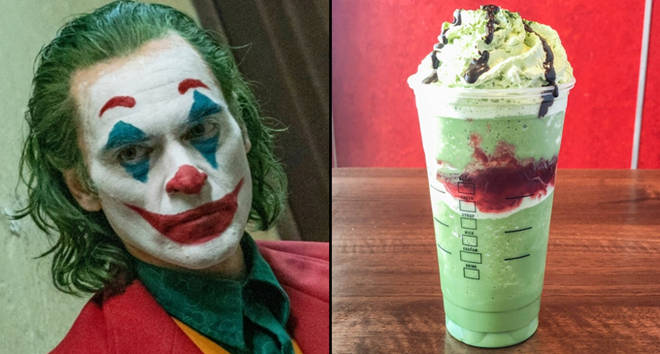 Joker movie, Joker Starbucks drink.